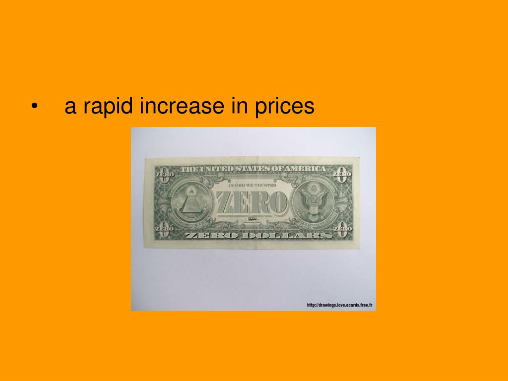 a rapid increase in prices