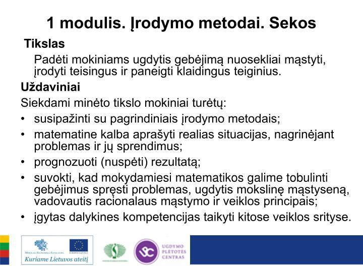 1 modulis. Įrodymo metodai. Sekos
