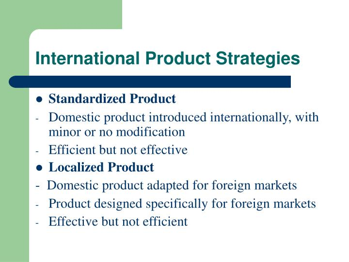 International Product Strategies