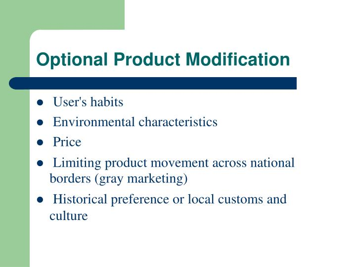 Optional Product Modification