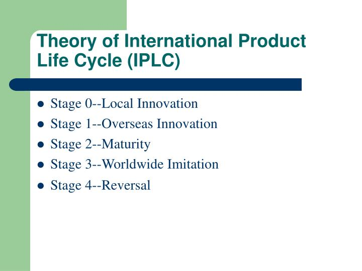 Theory of International Product Life Cycle (IPLC)