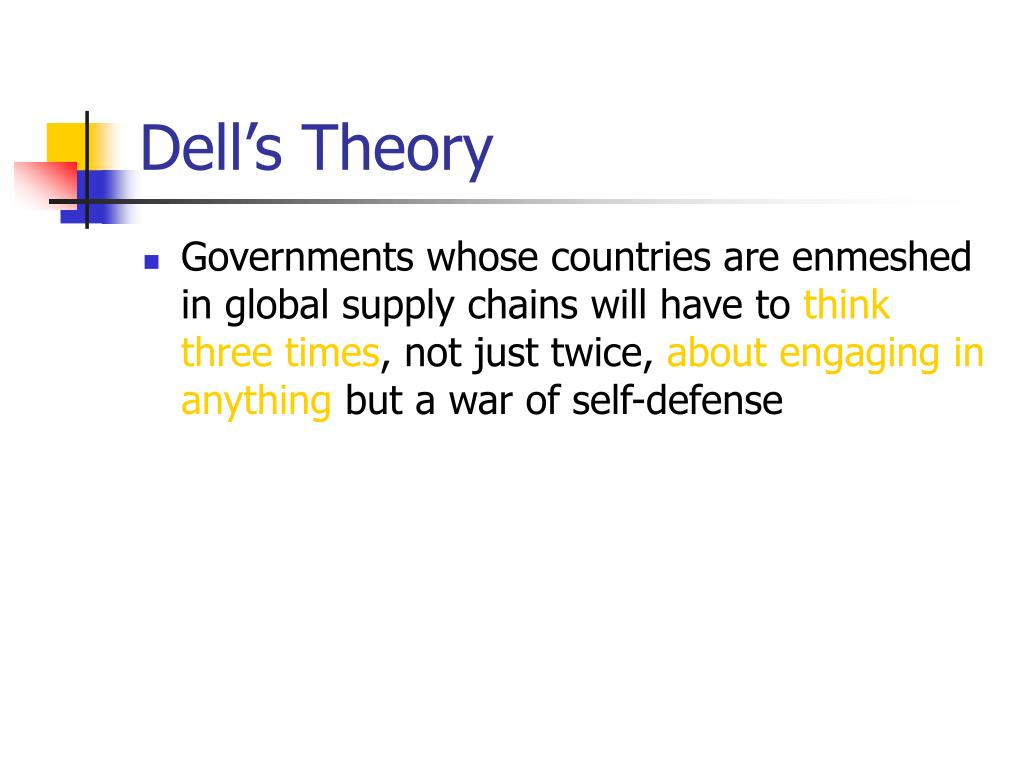 Dell's Theory
