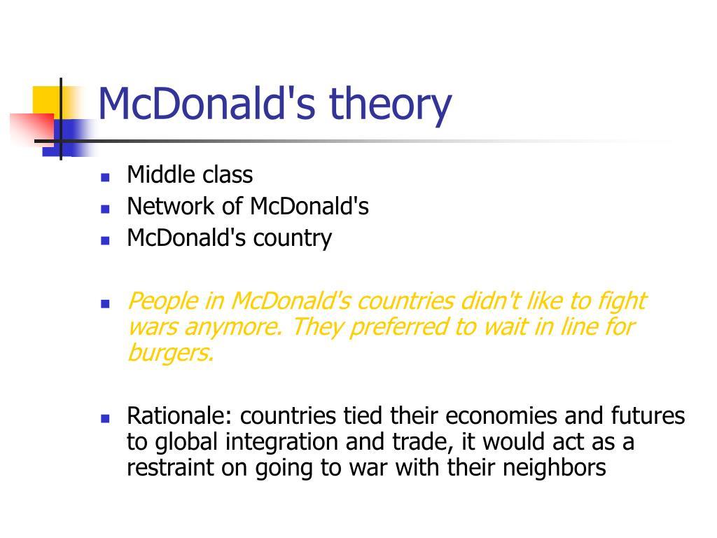 McDonald's theory
