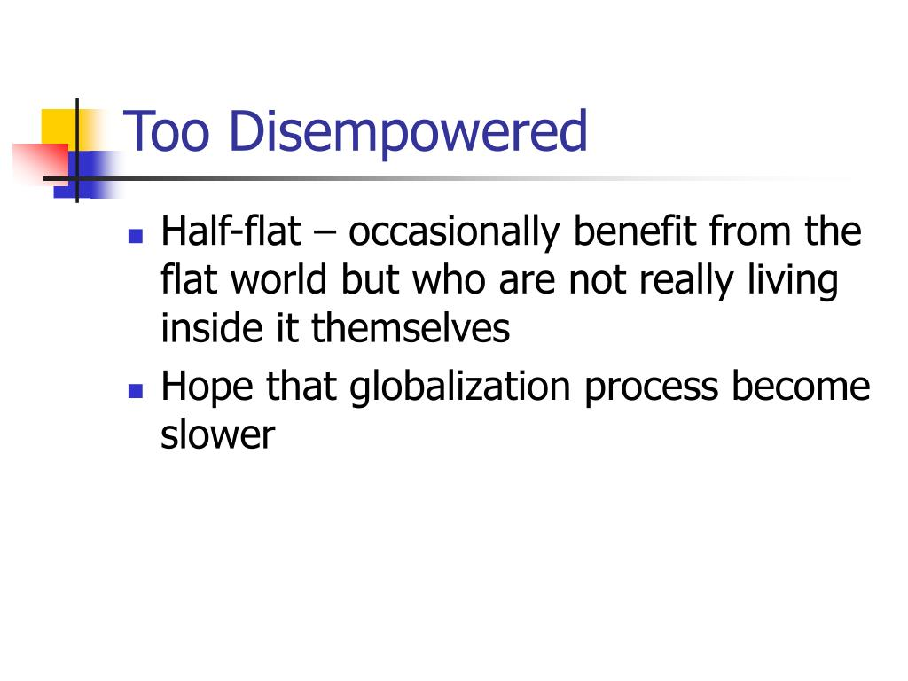 Too Disempowered