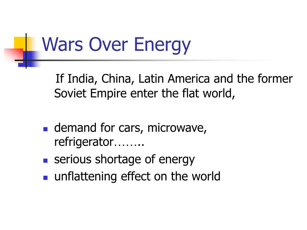 Wars Over Energy