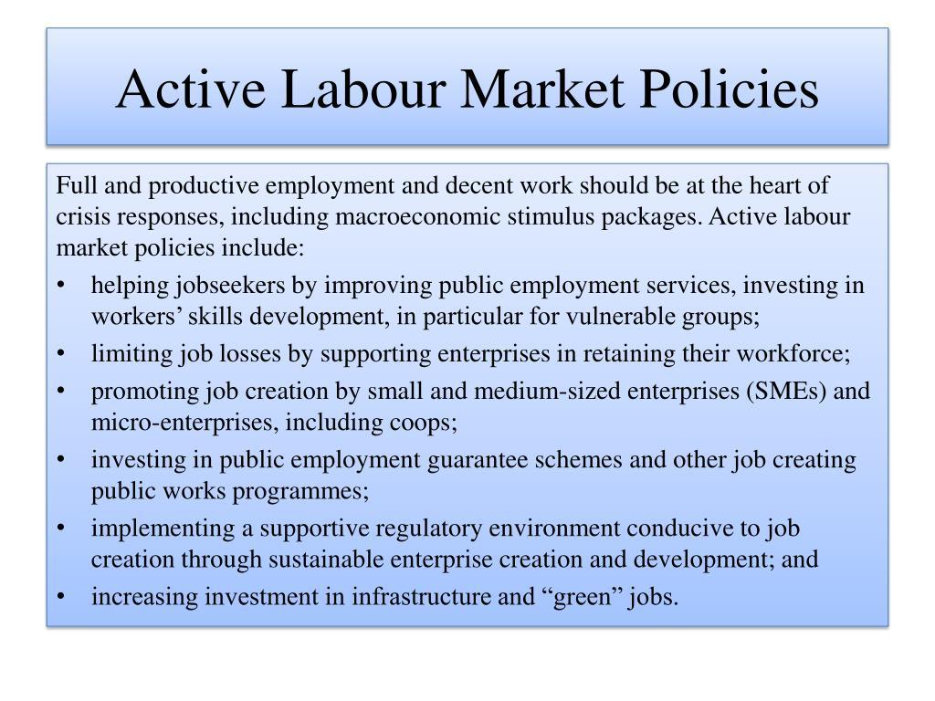 Active Labour Market Policies
