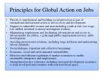 principles for global action on jobs
