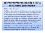 the way forward shaping a fair sustainable globalization13