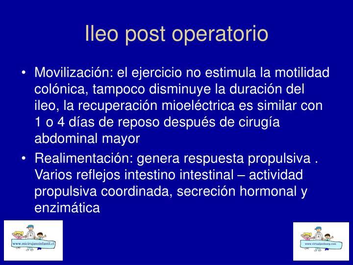 Ileo post operatorio