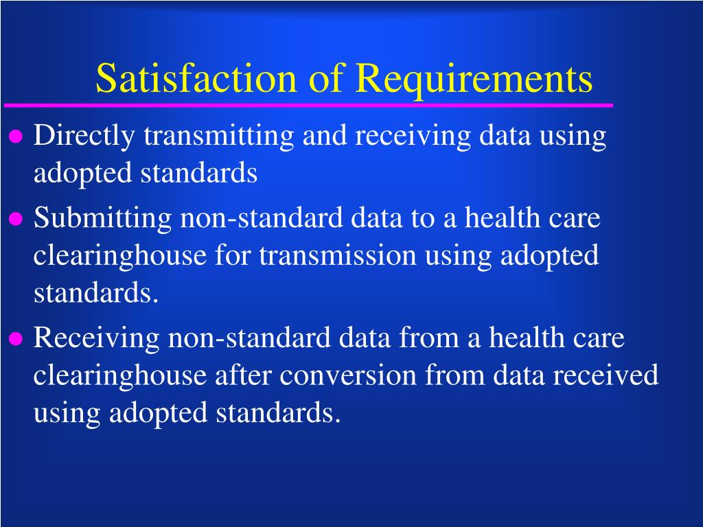 Satisfaction of Requirements