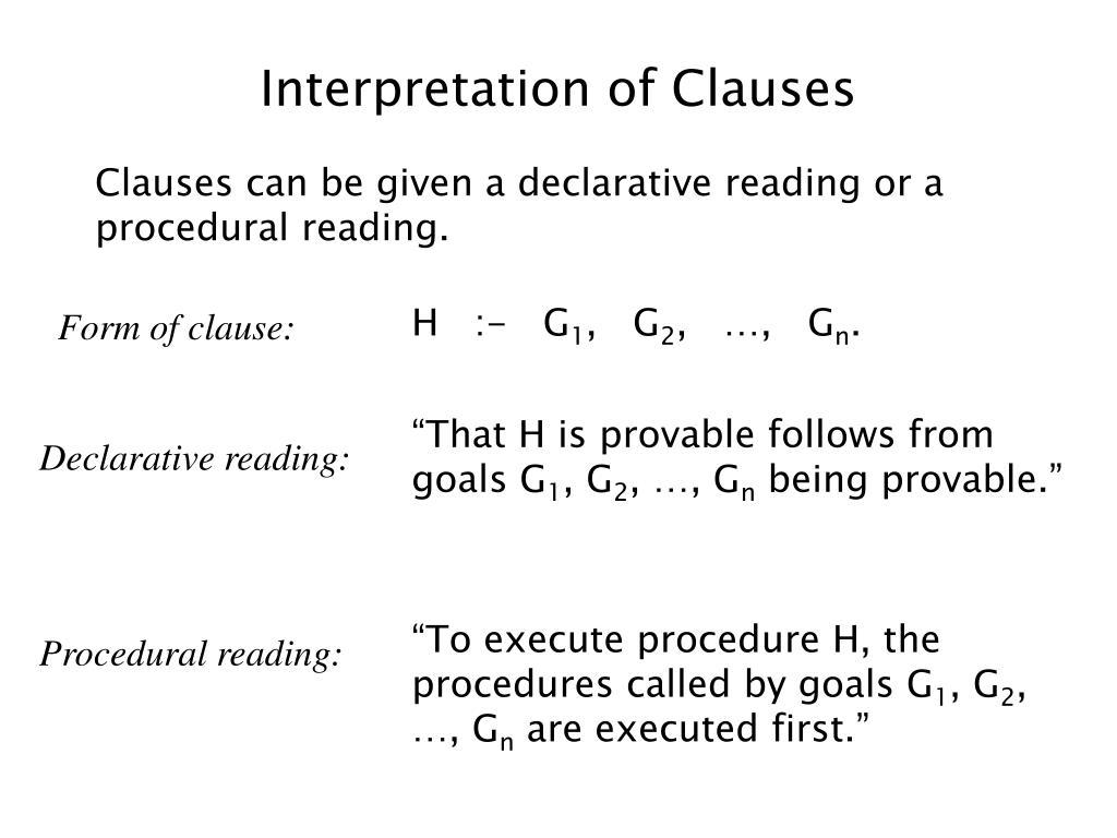 Interpretation of Clauses