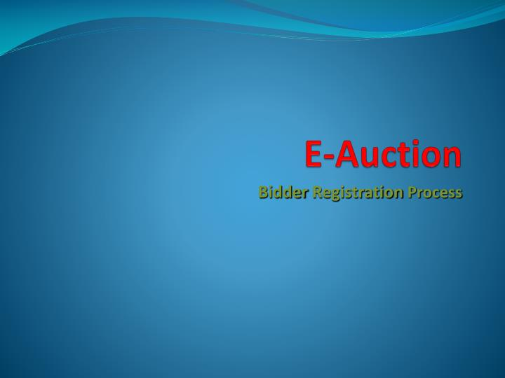 E auction