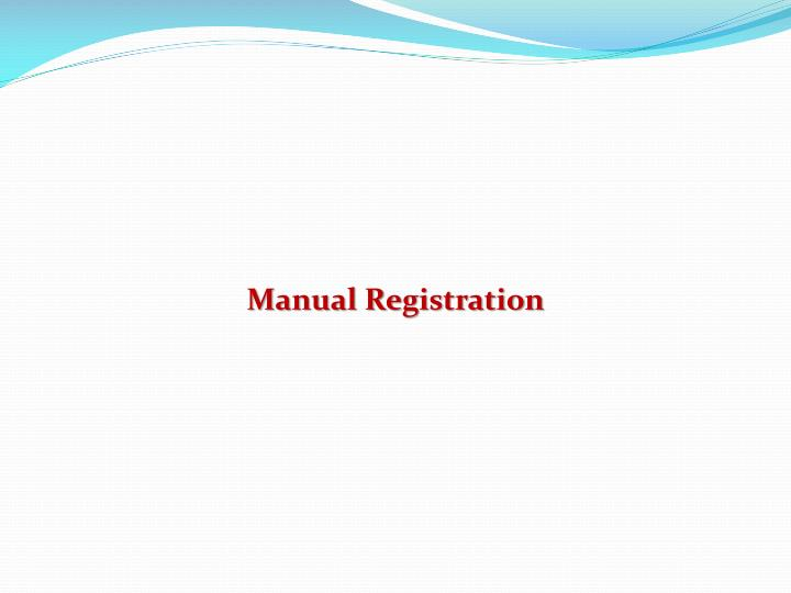 Manual Registration