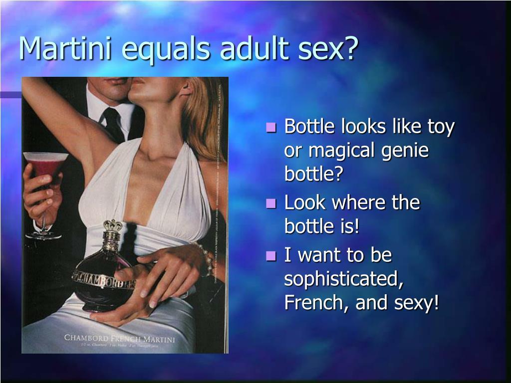 Martini equals adult sex?