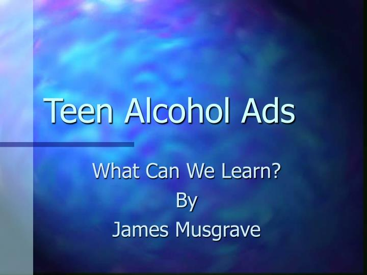 Teen alcohol ads