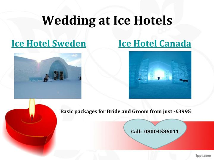 Wedding at ice hotels
