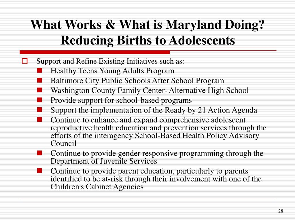 What Works & What is Maryland Doing?
