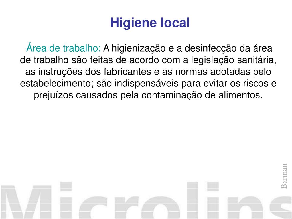 Higiene local