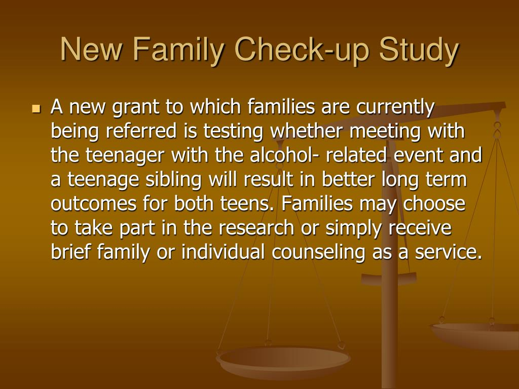 New Family Check-up Study