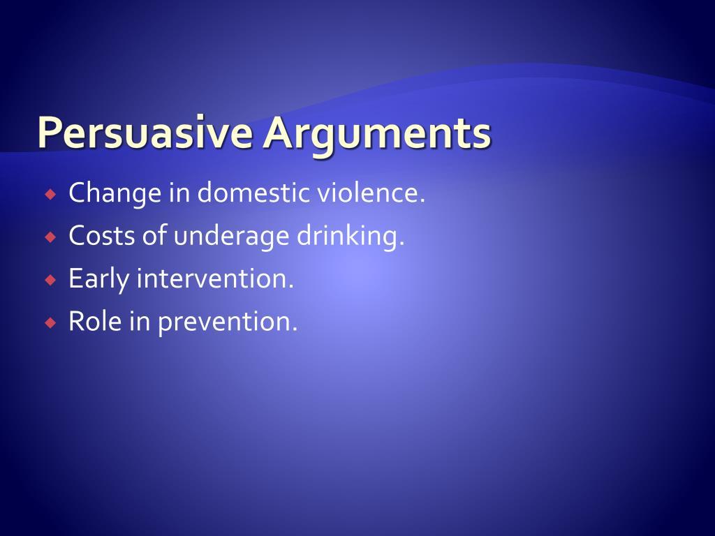 Persuasive Arguments