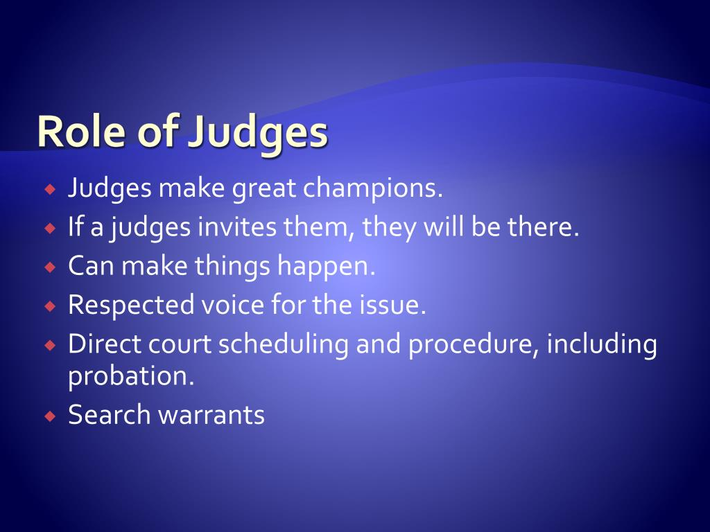 Role of Judges