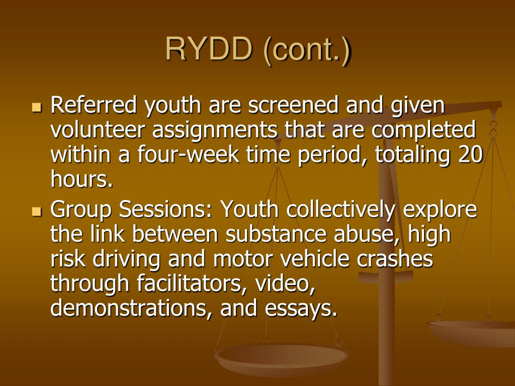RYDD (cont.)