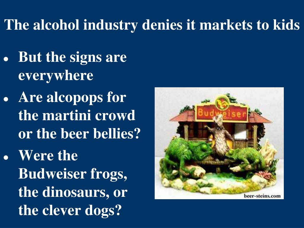 The alcohol industry denies it markets to kids