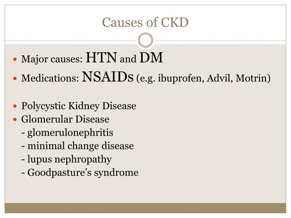 Causes of CKD