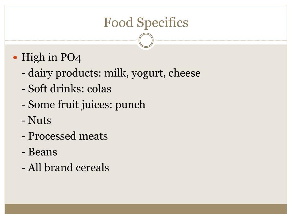 Food Specifics
