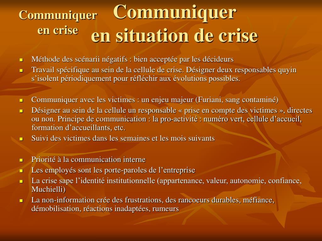 Communiquer en crise