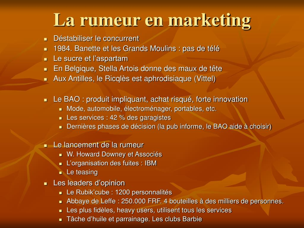 La rumeur en marketing