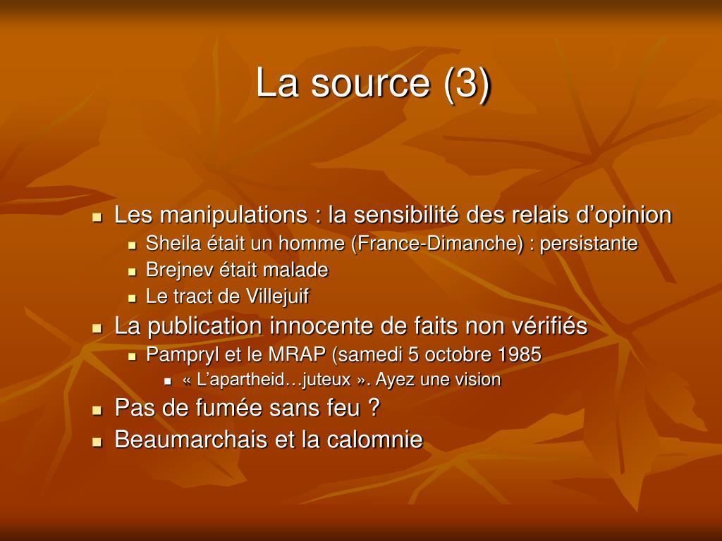 La source (3)