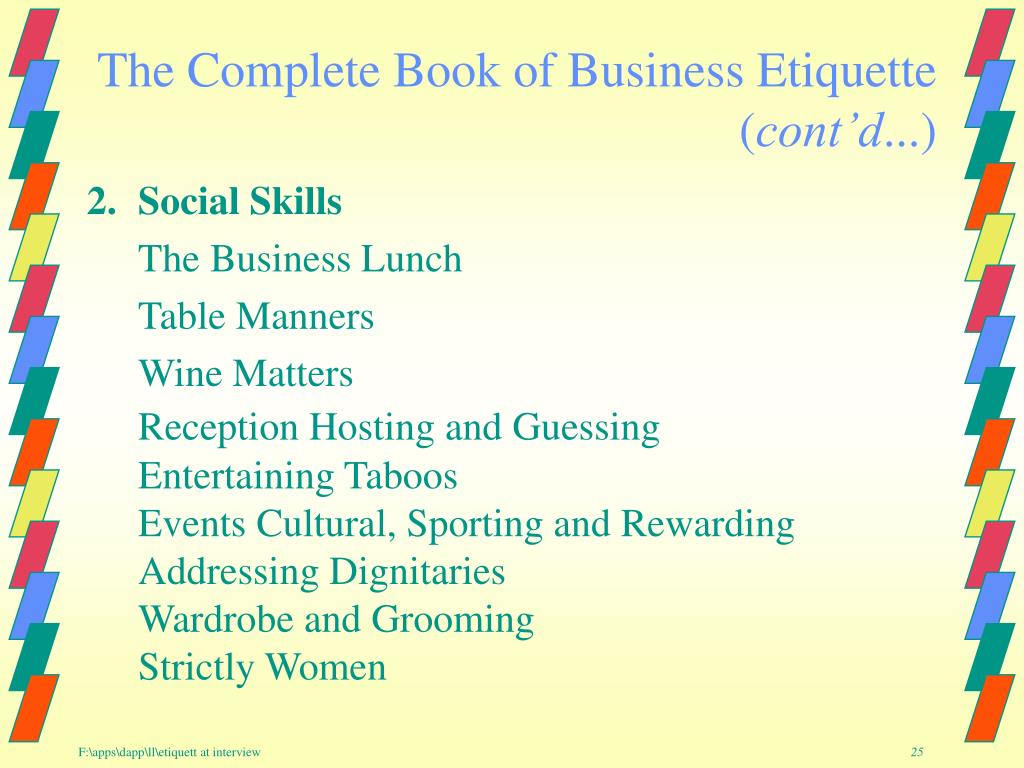 The Complete Book of Business Etiquette   (