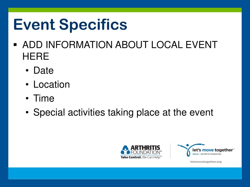 Event Specifics