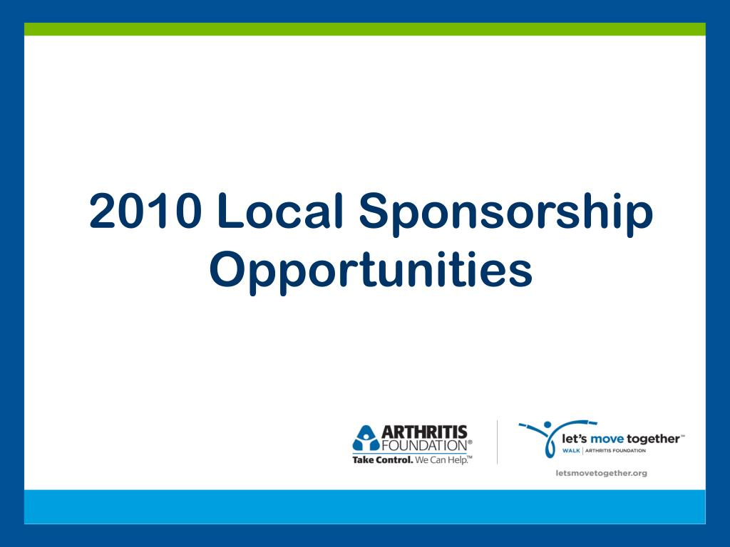 2010 Local Sponsorship Opportunities