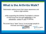 what is the arthritis walk