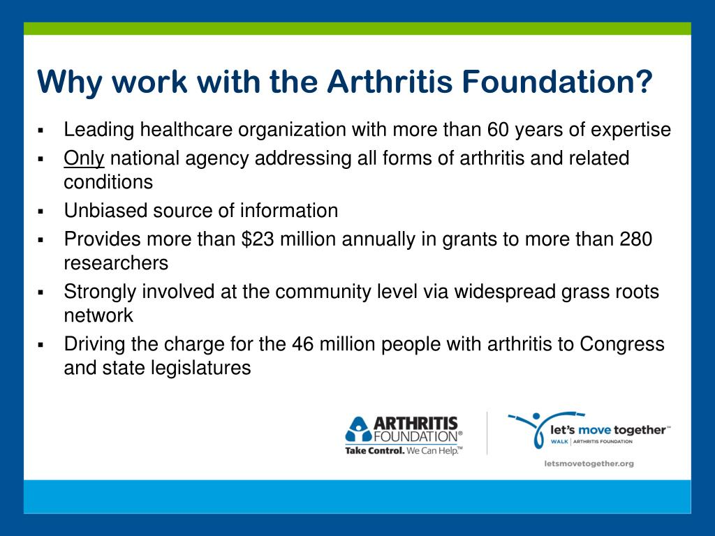 Why work with the Arthritis Foundation?