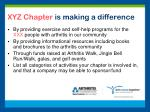 xyz chapter is making a difference