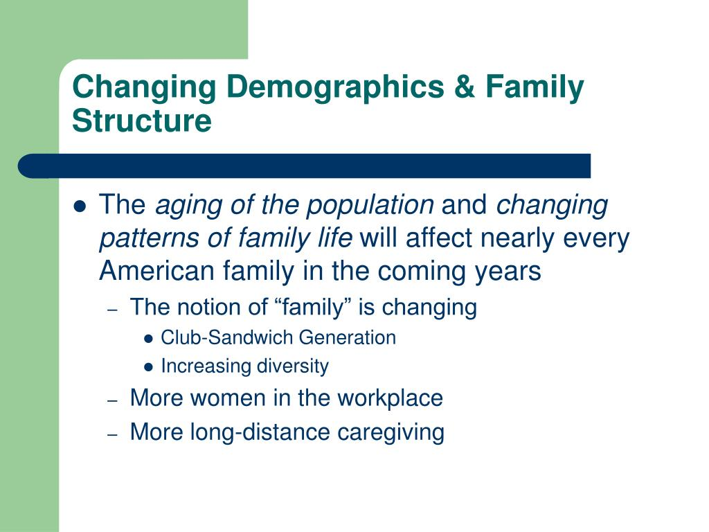 Changing Demographics & Family Structure