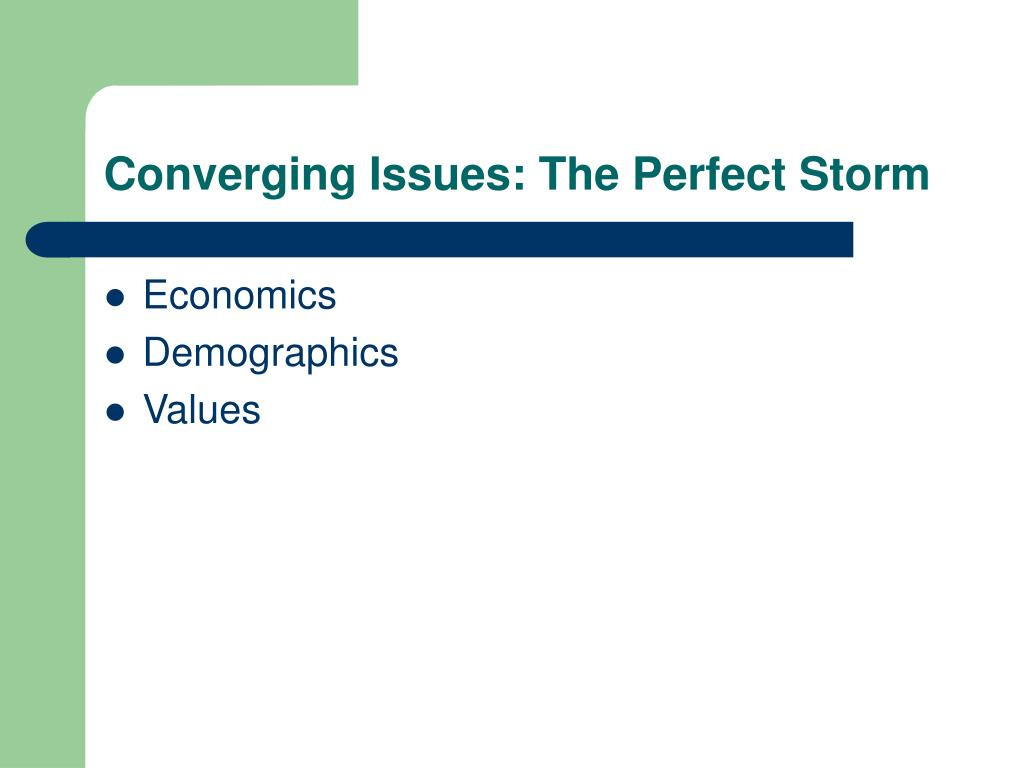 Converging Issues: The Perfect Storm