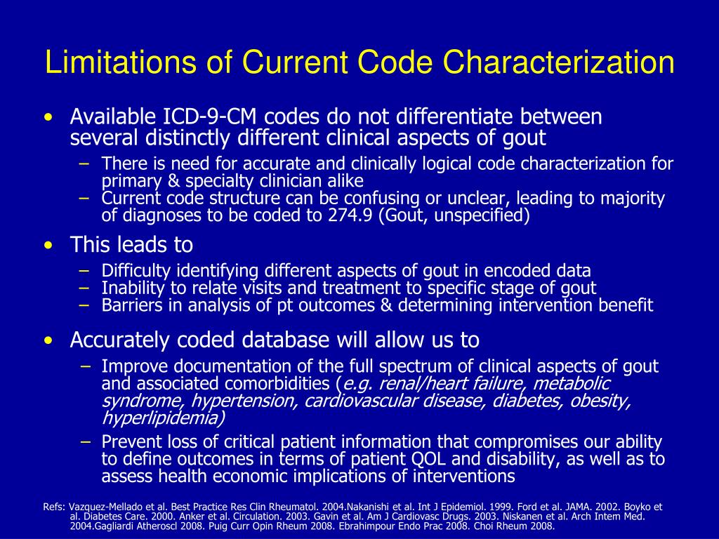 Limitations of Current Code Characterization