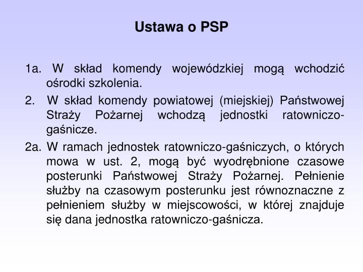 Ustawa o PSP