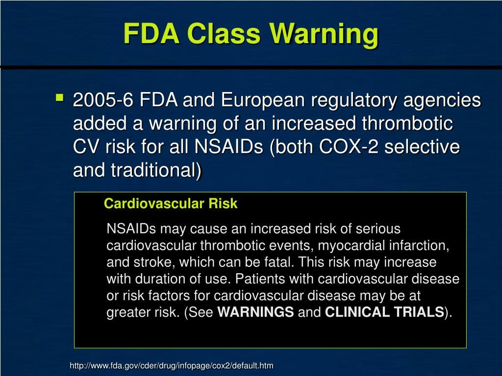FDA Class Warning