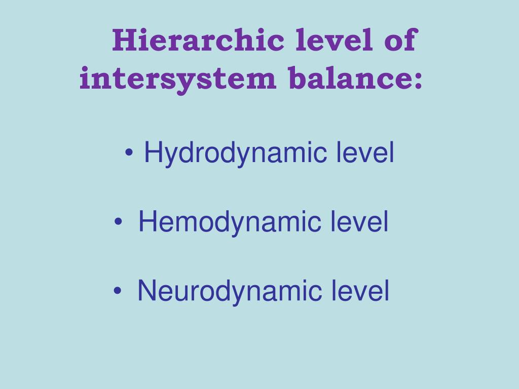 Hierarchic level of