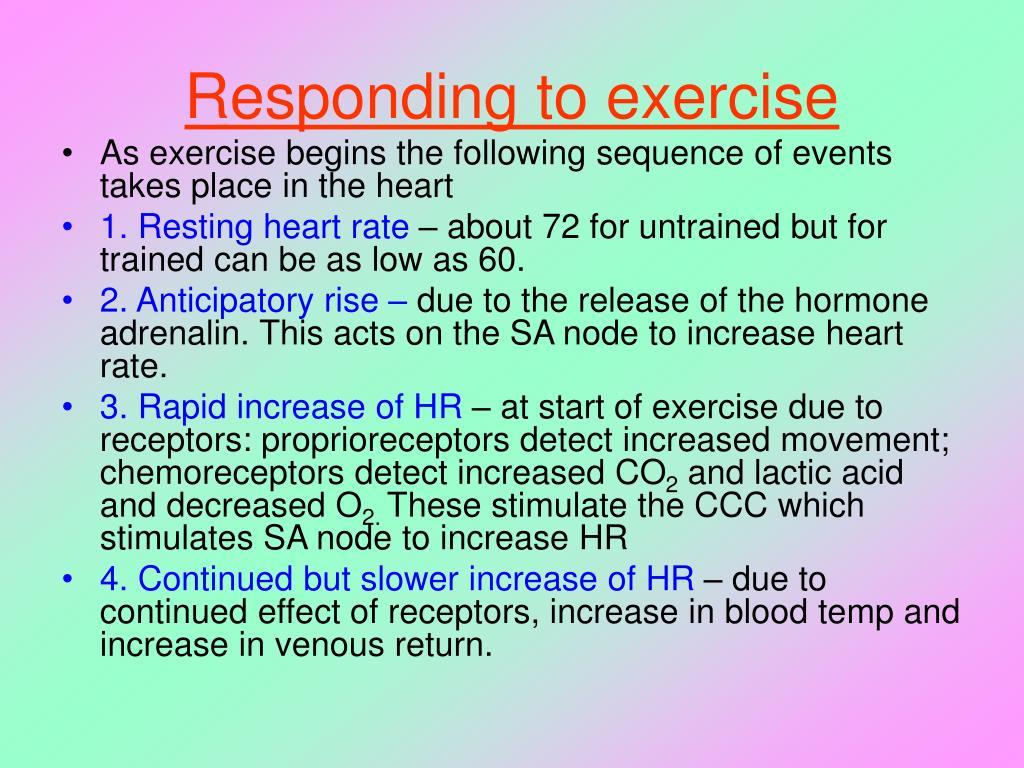 Responding to exercise