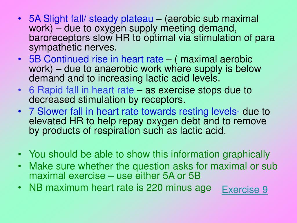 5A Slight fall/ steady plateau