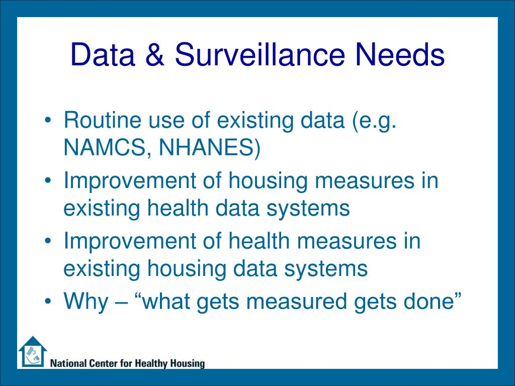Data & Surveillance Needs