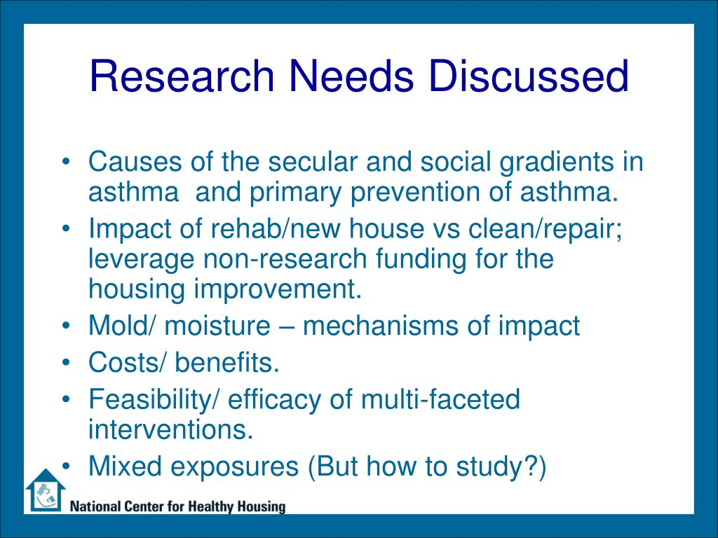 Research Needs Discussed