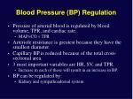 blood pressure bp regulation