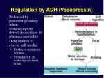regulation by adh vasopressin